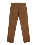 stretch canvas chino pants (saddle brown)