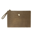 yoda jacquard leather briefcase C - brown