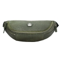 요다(YODA) yoda leather jacquard waist bag - green