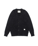 SPARKLING LAMBSWOOL CARDIGAN (CHARCOAL)