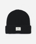 KNIT BEANIE BLACK (WHITE LABEL)