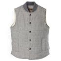 UTO 701 wool houndcheck vest_grey(남여공용)