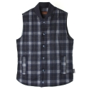 UTO 702 wool tartancheck vest_blue(남여공용)