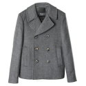 언티지 UTO 302 insulation wool pea coat_grey(남여공용)