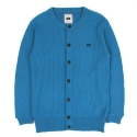 UTW 05 henlyneck wool knit cardigan_blue(남여공용)