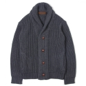 UTW 07 double shawle cardigan_charcoal(남여공용)