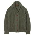 UTW 08 double shawle cardigan_khaki(남여공용)