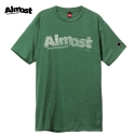 [Almost] STAMPED LOGO S/S (Sage Black Heather)