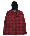 볼컴(VOLCOM) HOOD FLANNEL RED