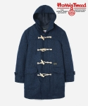 HARRIS TWEED DUFFLE COAT NAVY