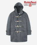 HARRIS TWEED DUFFLE COAT GRAY