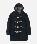 WOOL DUFFLE COAT BLACK