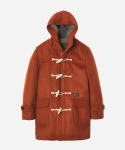 WOOL DUFFLE COAT ORANGE