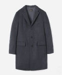 WOOL CHESTERFIELD COAT GRAY