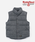 HARRIS TWEED DOWN VEST GRAY