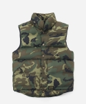 CAMOUFLAGE DOWN VEST