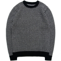 M#0462 zigzag wool knit sweater (black)