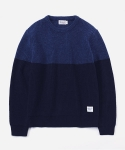 MIXED WOOL KNIT NAVY/BLUE