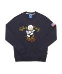 [Space Adventure] Astronaut Donald Sweatshirt (Navy)