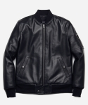 REAL LEATHER BOMBER JACKET