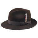 뉴욕 햇(NEW YORK HAT CO.) 5319 LITE FELT FEDORA (BROWN)