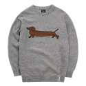 Dachshund Knit gray