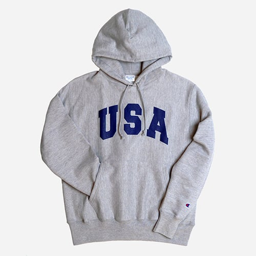 REVERSE WEAVE HOODED PULLOVER (U.S.A)