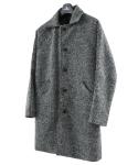 Woolen Herringbone Coat (Gray)