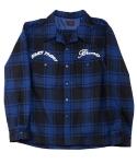Bronx wool engineer shirts(style no.120)-blue