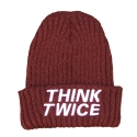UHG 79 think twice beanie_burgundy(남여공용)