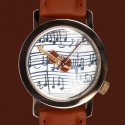 악테오(AKTEO) Violin Strad Gold/Swiss movement/프랑스 테마 시계