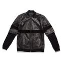 BLACK SCALE LEATHER ZIP UP