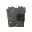 WOOL LEATHER GLOVES CHARCOAL