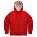 [코싸] koxa plain lambswool hood zipup red 양털후드집업