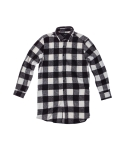 키즈아웃(KIZOUT) side cut long shirts