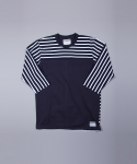 사이언티스트(SCIENTIST) Stripe T-shirt (navy)