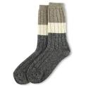 Lambs Wool 3 Block Socks Oatmeal