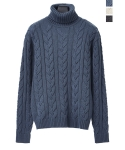 14FW TWISTED TURTLE NECK WOOL KNIT [3COL]