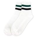 Ankle Stripe Socks Green