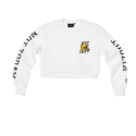 Q.B crewneck crop white