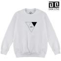 [DISCENE]디씬 Triangle 기모 맨투맨- WHITE