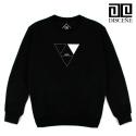 [DISCENE]디씬 Triangle 기모 맨투맨- BLACK