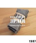 "1507 WORKSOCKS ""TWISTING GREY"" 3PAIR. *묶음판매"
