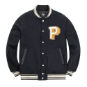 파퓰러너드(POPULARNERD) Capital Letterman Jacket navy