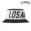스탬피디 빅 LA 컬러 블럭 버켓햇 / SLA-U412 / BIG LA COLORBLOCK BUCKET HAT BLACK WHITE
