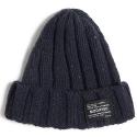 M#0494 nep wool beanie (navy)