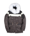 BLOCK N3B HEAVY PARKA DARK BROWN