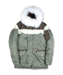 마치위드(MARCHWITH) BLOCK N3B HEAVY PARKA SAGE GREEN
