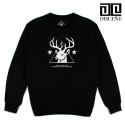 [DISCENE]디씬 Deer 기모 맨투맨- BLACK