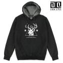 [DISCENE]디씬 Deer 기모 후드티- CHARCOAL